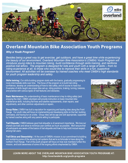 Youth Programs - Overland Mountain Bike Association
